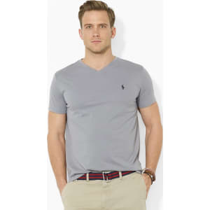 71732eb5f Polo Ralph Lauren Classic-Fit Short-Sleeved Cotton Jersey V-Neck Tee ...