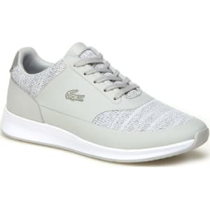 91dc84559a77 Lacoste Women s Chaumont Lace Bi-Material Lurex Sneakers - Grey from ...
