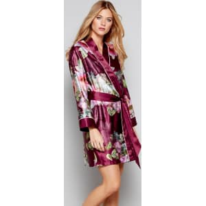 2e9a0d106dea0 B by Ted Baker Dark Pink Floral Print Satin  Pure Peony  Dressing ...