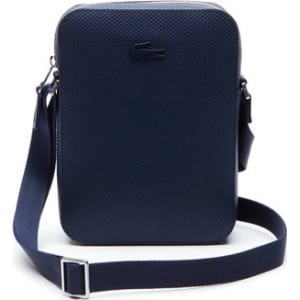 281d791e0 Lacoste Men s Chantaco Vertical Matte Pique Leather Bag - Peacoat ...