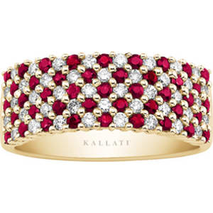 e7a86814a Kallati Ruby and 1/2 Ct. Tw. Diamond Ring in 14k Yellow Gold from ...