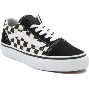ba7d43501fa289 Youth Vans Old Skool Chex Skate Shoe from Journeys.