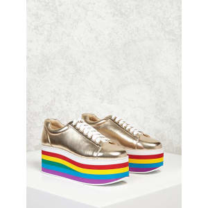 95f182e397 Platform Metallic Sneakers from Forever 21.