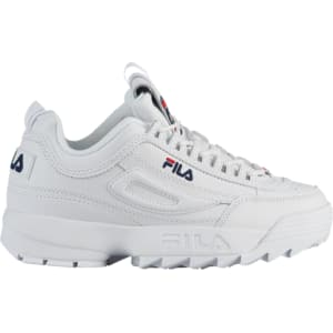 Womens Fila Disruptor Ii Premium WhiteNavyRed