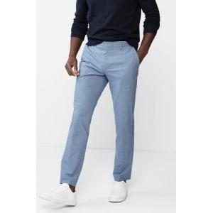 616448415cb6 Express Mens Extra Slim Mini Navy Check Dress Pants from Express.