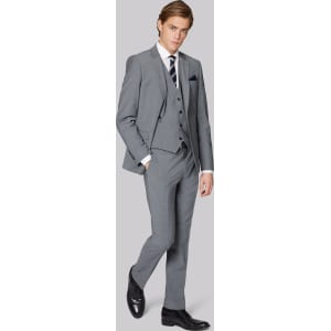 6409077bba6 Moss London Performance Skinny Fit Light Grey Jacket from Moss Bros..