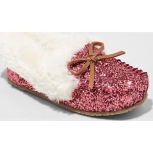 d73f7f95ceb5 Toddler Girls  Medora Glitter Moccasin Slippers - Cat   Jack Pink S ...
