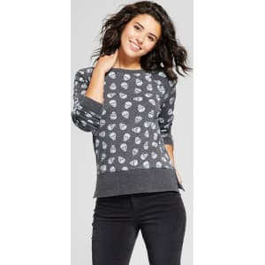 aef538032a4a9 Women s All Over Skull Pullover Graphic Sweatshirt - Grayson Threads ...
