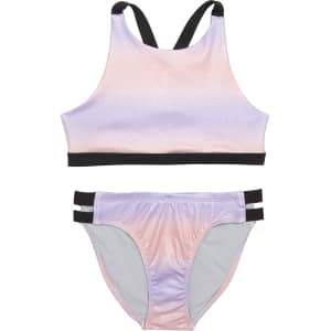 7d967d8c19 Girl's Zella Girl Strappy Sparkle Two-Piece Swimsuit from Nordstrom.