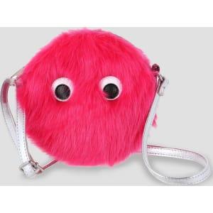 Girls  Monster Faux Fur Round Cross Body Bag - Cat   Jack Fuchsia ... 012f566af7e29