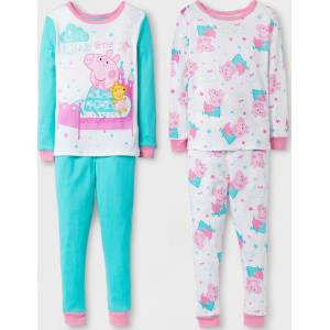 7ac10ab7804e5 Toddler Girls' Peppa Pig Pajama Set - Pink/Aqua 4T, Multicolored ...