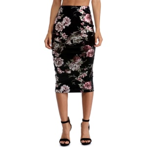 fa76b060a5 Black Floral Smooth Midi Skirt from Windsor.
