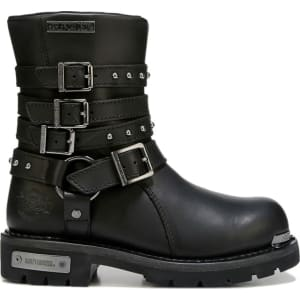 f1db6bceabe6 Harley Davidson Women s Eddington Boots (Black Leather) from Famous ...
