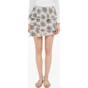 cc5a562abcf769 Club Monaco Color White Boylin Printed Ruffle Skirt from Club Monaco.