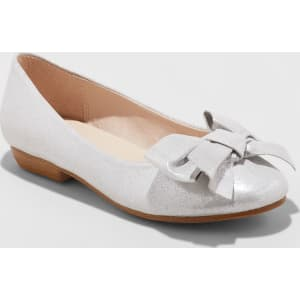 ede0b77555a Girls  Stevies  Flwrgrl Dressy Bow Ballet Flats - Silver 4 from Target.