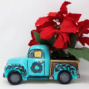 Paint n' Plant: Poinsettia in Vintage Truck