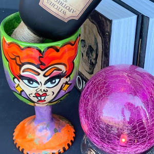 Ghoul's Night Out Wine Glass