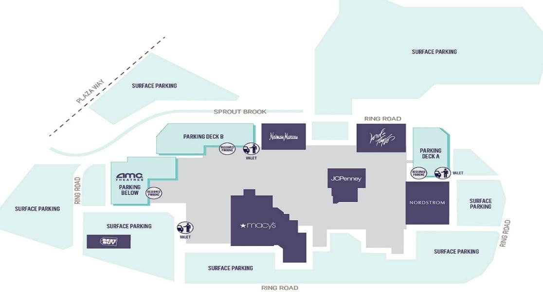 Garden State Plaza Mall Layout