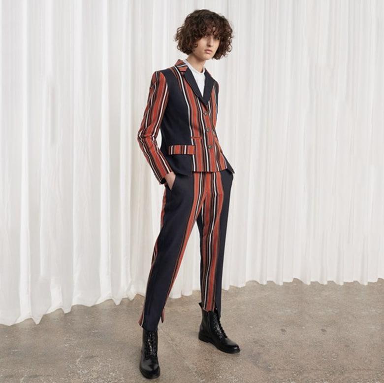 be417639a70e stripe  x20 french  x20 connection  x20 black  x20 . Trousers ...