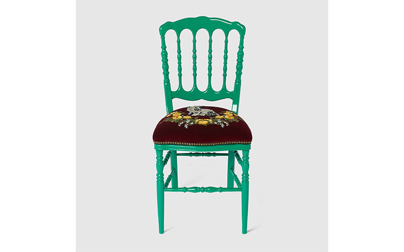 Gucci wooden chair