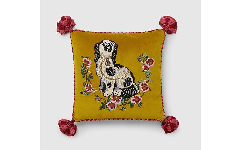 Gucci velvet cushion