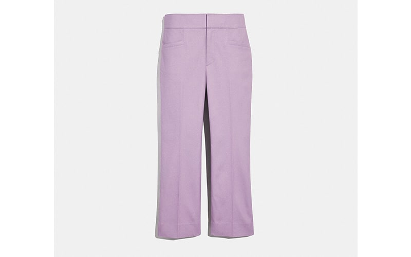 Westfield London Coach Selena Trousers in Lilac, £225 Coach