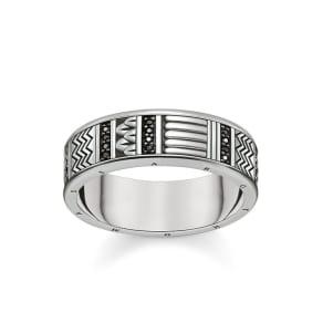 Free Shipping 2018 Unisex Thomas Sabo ring black-white TR1772-051-18-50 Thomas Sabo Cheap High Quality Clearance Eastbay W9tcgo
