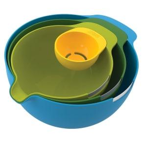 Joseph Joseph Nest Mix 4 Piece Mixing Bowl Set with Egg Yolk Separator, Multi-Colored