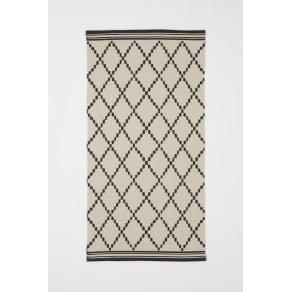 H & M - Patterned cotton rug - Beige