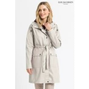 Womens Ilse Jacobsen Cream Raincoat -  Cream