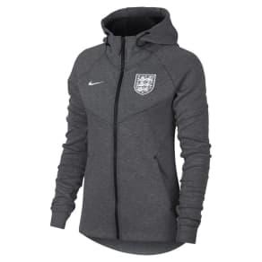 England Tech Fleece Women's Full-Zip Hoodie - Grey