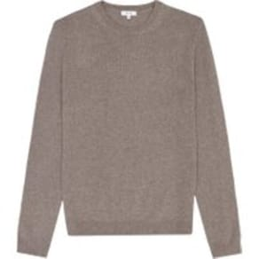 Reiss Bolton - Wool Alpaca Blend Jumper in Taupe, Mens, Size XS
