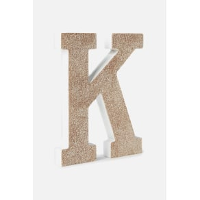 Typo - Glitter Letterpress - Pale gold glitter k