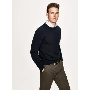 Merino wool and cashmere-blend crew neck sweater