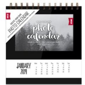 Desktop Calendar Black 2019