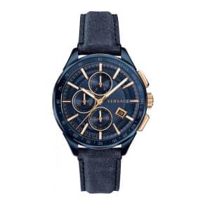Versace Glaze Chrono Men's Blue Strap Watch