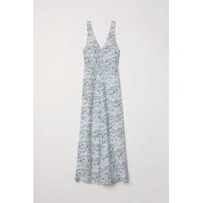 H & M - Long silk dress - White