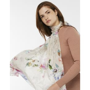 Wow Amelie Etched Foil Silk Stole