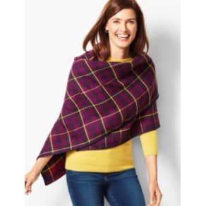 Talbots: Double Face Triangle Wrap