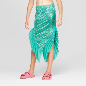 Girls' Mermaid Swim Skirt - Cat & Jack Turquoise XL, Blue