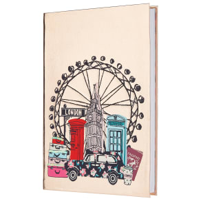 London Cityscape Metallic PU A5 Notebook