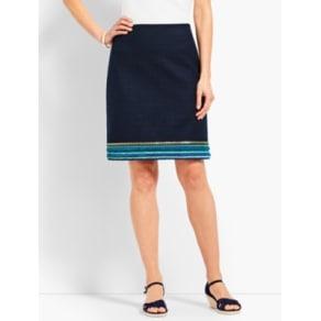 Talbots: Embellished Hem A Line Skirt