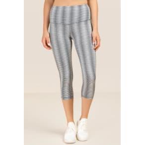 Nira Cropped High Waist Legging - Gray