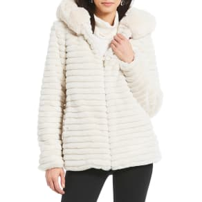 35df6afc7a7 Gallery Faux Fur Hooded Stadium Coat