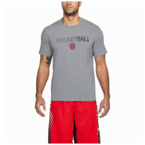 106ff819885 Under Armour Basketball Wordmark T-Shirt - Mens - Steel Light Heather/Sultry