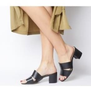 Office Malena Cut Out Mule BLACK LEATHER