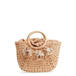 Street Level Woven Straw Tote -