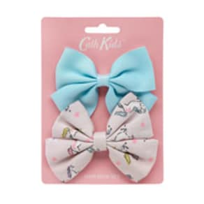 Unicorns Ditsy Kids Bows 2 Pack
