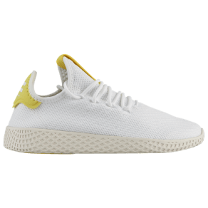 Boys adidas Originals PW Tennis HU - Grade School - White/Shock Yellow/Chalk White