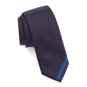 2d2061a54b78 Men's Boss Solid Silk Skinny Tie, Size Regular - Blue